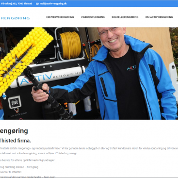Activ Rengøring og vinduespolering har fået ny hjemmeside