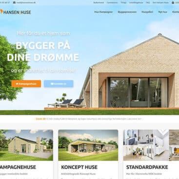 Ny hjemmeside til Hansen Huse