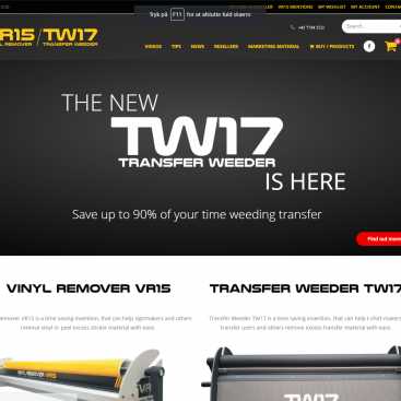 hjemmeside til vinylremover.com