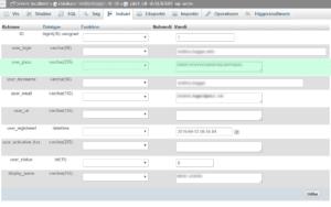 Nulstil wordpress adgangskoden ved at rette feltet user_pass i din sql databse