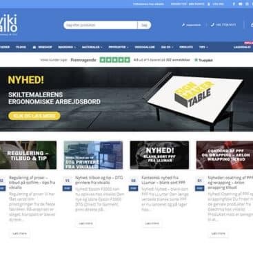 Webshop / hjemmeside til vikiallo